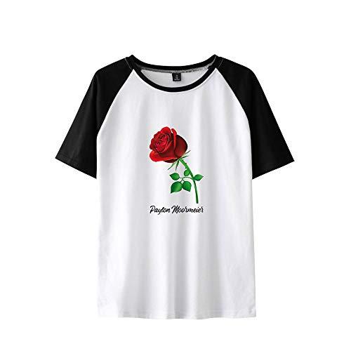 Payton Moormeier Camiseta Manga Corta Basica Mujer Hombre Swag Sudadera Bicolor Camisa Béisbol Jersey Sueter Blusa Cuello Redondo Sweatshirt Verano Pullover Hip Hop Jumper Tunica A15189TX1419L
