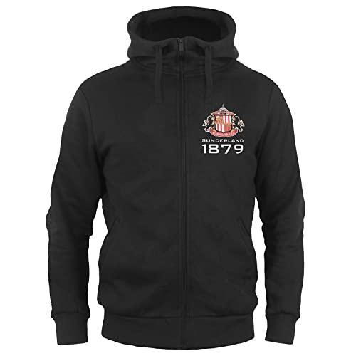 Sunderland AFC Official Football Gift Mens Fleece Zip Hoody Black Large