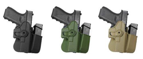 GK3 Polymer-Holster für Handpistole, mit integriertem Magazintasche, OD Green Glock 17/22/31/19/23/32/36 IMI RSR Defense Pistolenholster