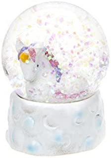 GIGI QUEEN 65mm Unicorn Snow Globe Decoration - White Adventures in Unicorn Land