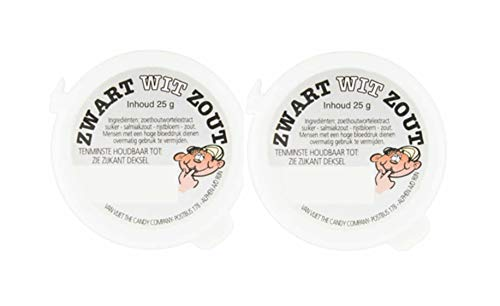 Zwart Wit Zout Salmiak Salty Powder .80 oz/23g each - (Pack of 2)