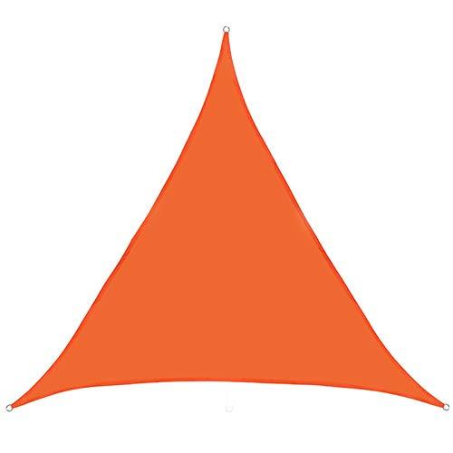 NOPEXTO Vela De Sombra,Toldo Vela De Sombra Triangular,Protección Rayos UV, Resistente Y Transpirable para Patio Exteriores Jardín (4.5×4.5×4.5m,Naranja)