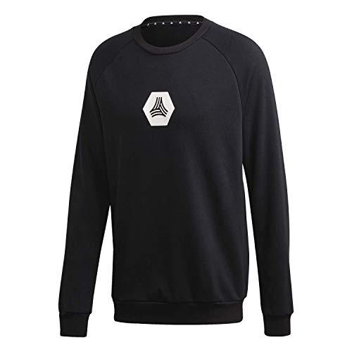 adidas Mens Tan Sw Lg Crew Pullover Sweater, Black, M