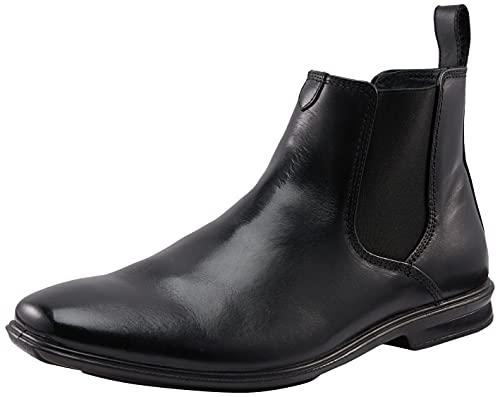 Hush Puppies Men's Chelsea Leather Boot, Black, 13 AU