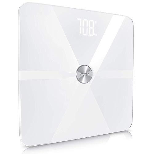 MyBeo – Báscula de baño digital |Báscula para medir nivel de grasa | Balanza digital multifunción | Rango de peso 5-180 Kg | GEstionable através de App