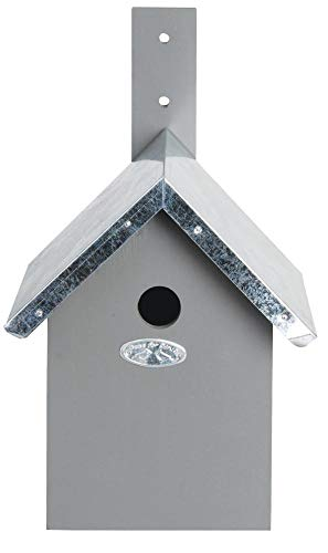 Esschert Design Nistkasten, Vogelhaus für Blaumeisen in grau, ca. 19 cm x 18 cm x 31 cm