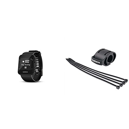 Garmin Forerunner 35 Watch and HRM-Tri Heart Rate Monitor, Black and Bicycle Mount Kit