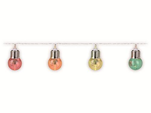 Guirnalda de luces LED (30 luces, funciona con pilas), multicolor