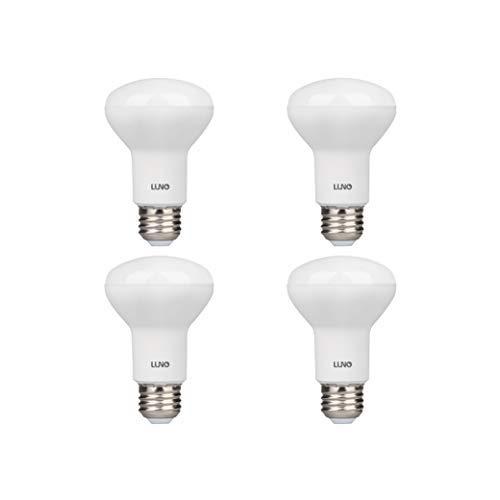 LUNO R20 Dimmable LED Bulb, 6.5W (45W Equivalent), 455 Lumens, 2700K (Soft White), Medium Base (E26), UL & Energy Star (4-Pack)