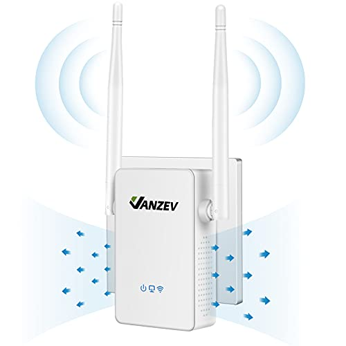 VANZEV Wifi Booster Range Extender 1200Mbps, Powerful Extend Dual Band WiFi...