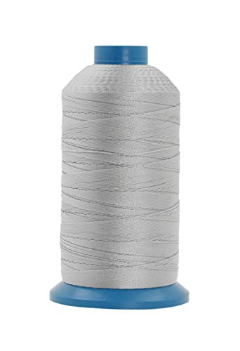 Mandala Crafts Bonded Nylon Thread for Sewing Leather, Upholstery, Jeans and Weaving Hair; Heavy-Duty (T135#138 420D/3, Gray)