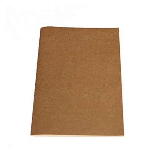 Papel Cuaderno en blanco Bloc de notas Book Vintage Copybook Daily Memas Kraft Cover Diario Cuaderno (Color : Kraft paper, Size : 210x 110mm)