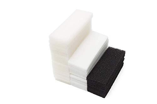 LTWHOME Compatible Mousse Carbone Polyester Tampons Filtrants Ensemble Convient pour Le Fluval 4 Plus + Filtre (Paquet DE 36)
