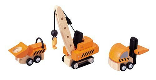 PlanToys - PT6087 - Jouet en bois - Véhicule - Véhicules de Construction