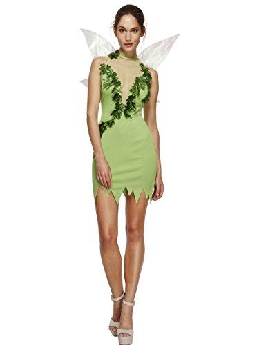 SMIFFYS Smiffy's 43480XS - Febbre Magica Fata Verde Costume con Vestito e Sulle Ali, XS