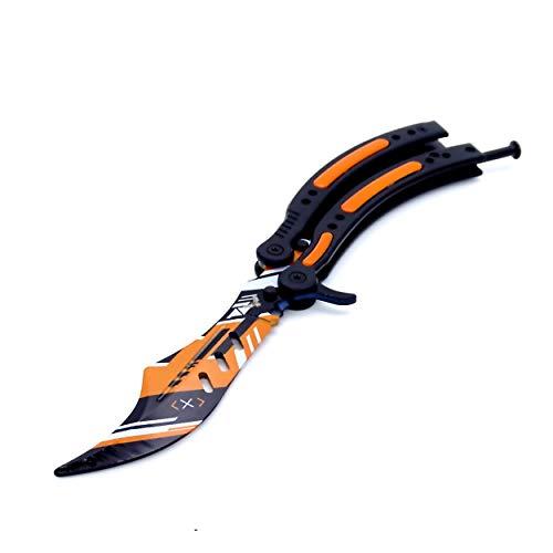 epicknives–CS Go Balisong cuchillo de entrenador mariposa cuchillo de mariposa Trainer práctica Csgo–01–3(Dull hoja) V1
