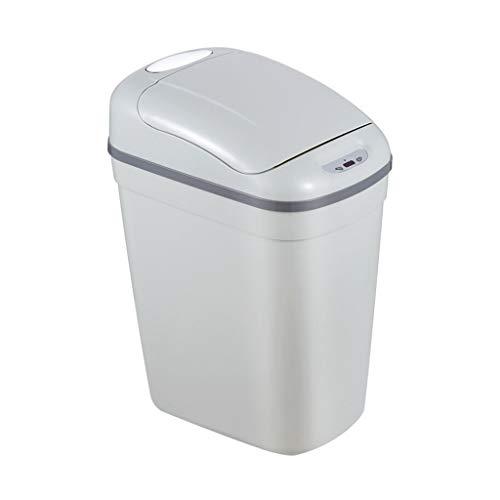 XINF Intelligente inductie vuilnisbak huishoudelijke plastic automatische flip Europese grijze hotel business office woonkamer villa sanitaire emmer Recycling bin prullenbak recycling bin opslagbak