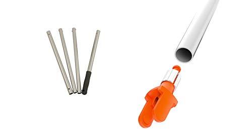 FUGINATOR Adaptador de rosca y mango de clic de 4 piezas, la limpieza más innovadora para el baño, la cocina y el hogar, patentada.