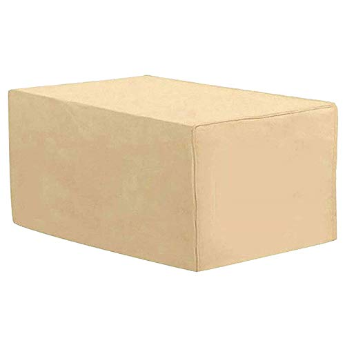 Cubierta De Muebles De Jardin 190x125x80cm, Fundas De Muebles Impermeable Beige Exterior Patio Mesas, Cubiertas De Mesa De Jardín Anti-UV a Prueba De Viento Rectangulares De Tela Oxford
