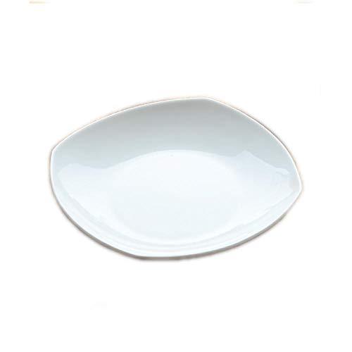 Pteng Plato cuadrado de cerámica, platos familiares, platos occidentales, platos para carne, platos para frutas, platos para ensalada, perfectos para catering en el hogar, acampar al aire libre