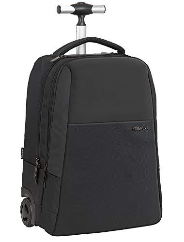 Safta Trolley para Portátil 15.6   con Bolsillo para Tablet y Conector USB Business, 430x320x210mm, Negro, M