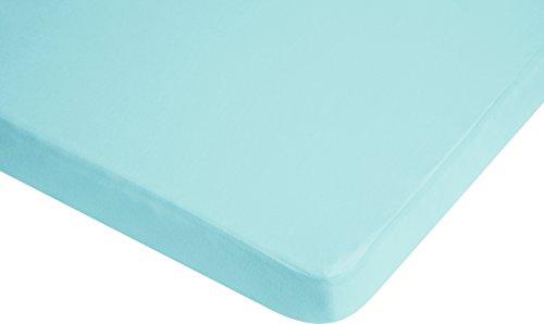 Playshoes 770320-17 Jersey Spanbettlaken Kinderbett, Wasserdicht und Atmungsaktiv, OEKO-TEX Standard 100, 60 x 120 cm, hellblau