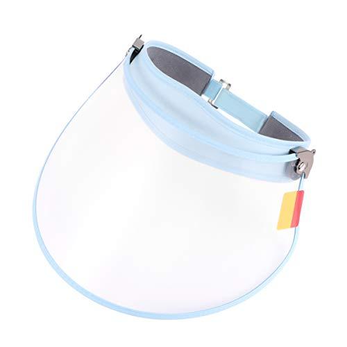 LUOEM Écran Facial de Sécurité Cache Facial Chimique Transparent Protecteur Facial Anti-Buée Anti-Éclaboussures Protecteur Anti-Poussière (Bleu)