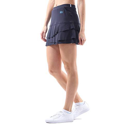 Sportkind Mädchen & Damen Tennis, Hockey, Golf Tulip Rock mit Taschen & Innenhose, Navy blau, Gr. 164