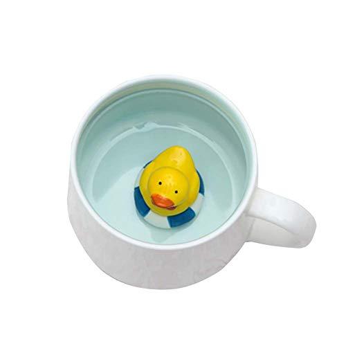 Demarkt - Taza de café con Leche (cerámica), diseño de Animales, cerámica, Pato Blanco, 8 * 9cm