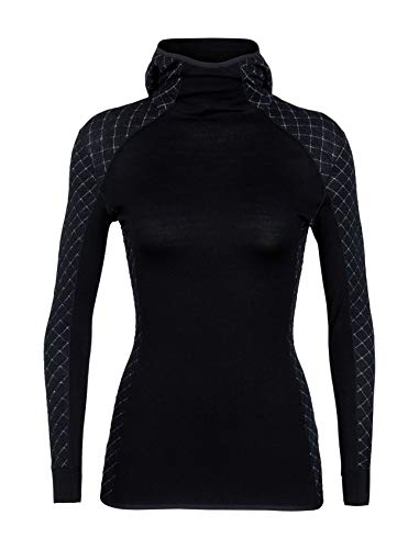 Icebreaker Damen Merino Affinity Thermo Hoodie Pullover Merino Wool, Damen, Women's Affinity Thermo Hooded Pullover, schwarz, Small
