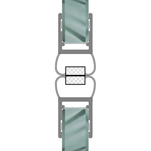 Magnetdichtungen 180° Magnetprofil Steckprofil Duschdichtung Glasdusche 1 Set für Glasstärke 6-8 mm
