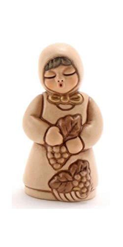 THUN - Donna Vendemmiatrice con Uva Figura Ceramica, Multicolore
