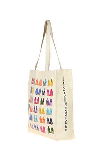 SJP by Sarah Jessica Parker Fawn Wall High Heel Canvas Tote Bag