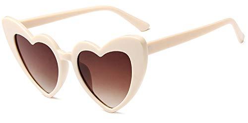 JFAN Gafas de Sol en Forma de Corazón Eyewear Unseix para Fiesta Protección UV400