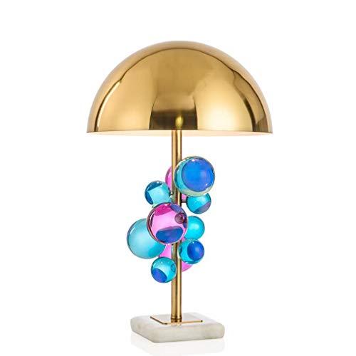 YC la Mayoría de la Boutique de Iluminación Personalidad Moderna Azul Amatista Creativo Diseñador de Moda de Metal Lámpara de Mesita de Noche del Dormitorio,UN