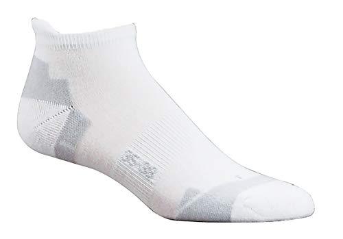 Wowerat Sneakersocken weiß | COOLMAX® Sport-Socken | atmungsaktiv mit besonders guter Feuchtigkeitsableitung | schützende Fersenpolsterung | kurze Socken für Damen & Heren (weiß, 43-46)