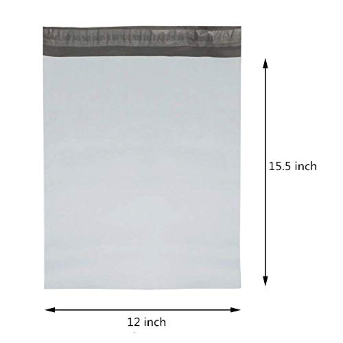BESTEASY 100 12x15.5 White Poly Mailers Envelopes Bags Shipping Mailing Bags Photo #3