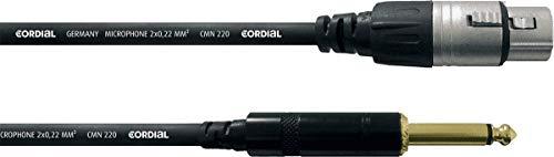 Cordial CCM5FP - Cable para micrófono XLR a jack (mono, macho/hembra, 5...