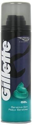 Gillette Classic 200 ml Sensitive Skin Shaving Gel (Pack of 2)