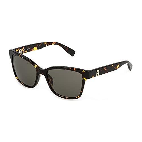 FURLA Gafas de sol SFU470 0714 54-16-135 Mujer Habana Oscuro Brillante Lentes Brown