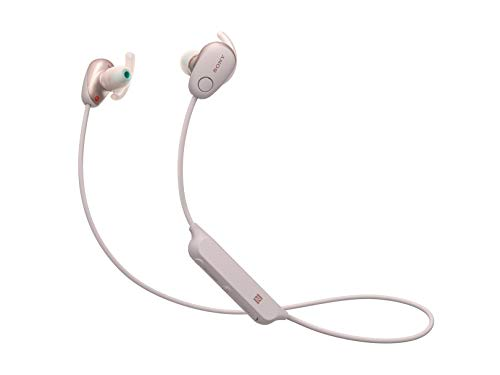 Sony SP600N Wireless Noise Canceling Sports In-Ear Headphones, Pink (WI-SP600N/P)