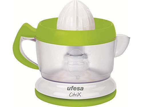 Ufesa EX4938 Activa - Exprimidor eléctrico compacto con 2 conos exprimidores intercambiables, filtro regulable de pulpa y rotación dos sentidos, 40 W y 0.6L. Libre de BPA