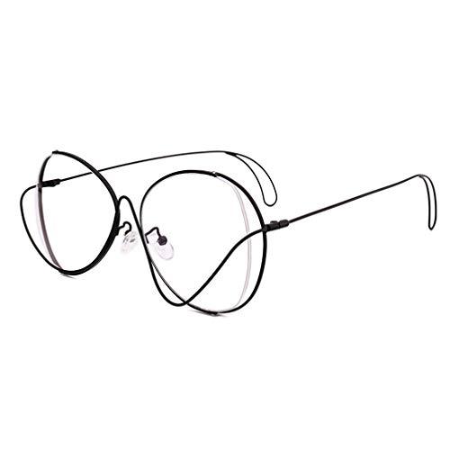 Mode Groot Frame Retro Gouden Brilmontuur Vorm Uitgehold Platte Spiegel Bijziendheid Brilmontuur Tij Meisje UV400 Materiaal Om De Ogen Te Beschermen