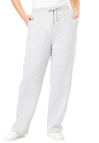Woman Within Women's Plus Size Better Fleece Sweatpant - 4X, Heather Grey
