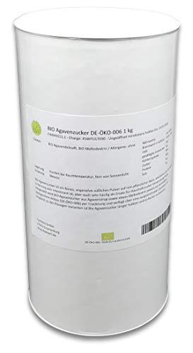 BIO Agavenzucker DE-ÖKO-006 1 kg, Agavensüße, Agavendicksaft Pulver