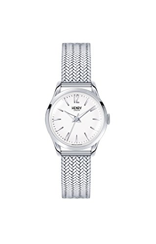 Henry London Unisex Analog Quarz Uhr mit Edelstahl Armband HL25-M-0013