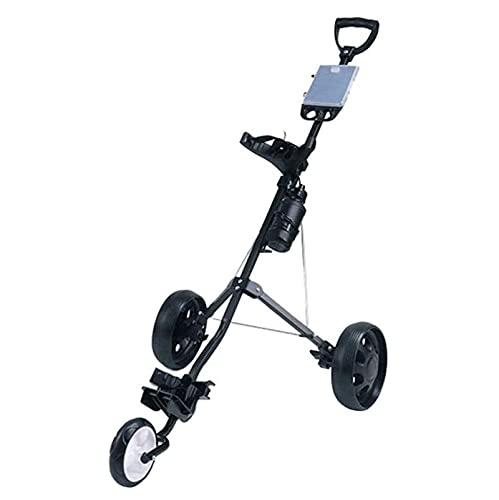 SUYUDD Chariot De Golf Chariot De Golf Chariots De Golf pour Sac De Golf, Chariots De Golf 3 Roues Pliables avec Support, pour Hommes, Femmes/Enfants - Chariot De Sac De Golf