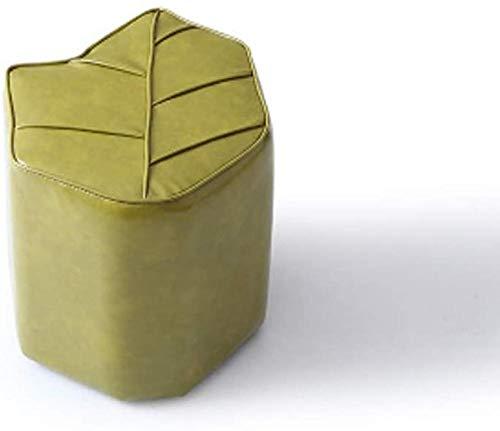 Xicaimen Taburete Taburete Moderno Simple/Taburete de sofá Creativo/Taburete de Cuero con Personalidad Hojas Taburete de Muelle para Sentarse