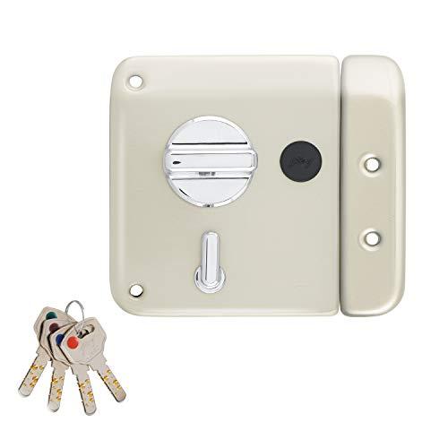 Godrej Locking Solutions and Systems 6088 Key Door Lock (Silver, Satin Steel Finish Finish)