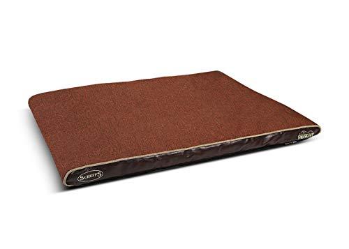 Scruffs Hilton Memory Foam Orthopaedic Mattress, 120 x 75 x 8 cm, Chocolate